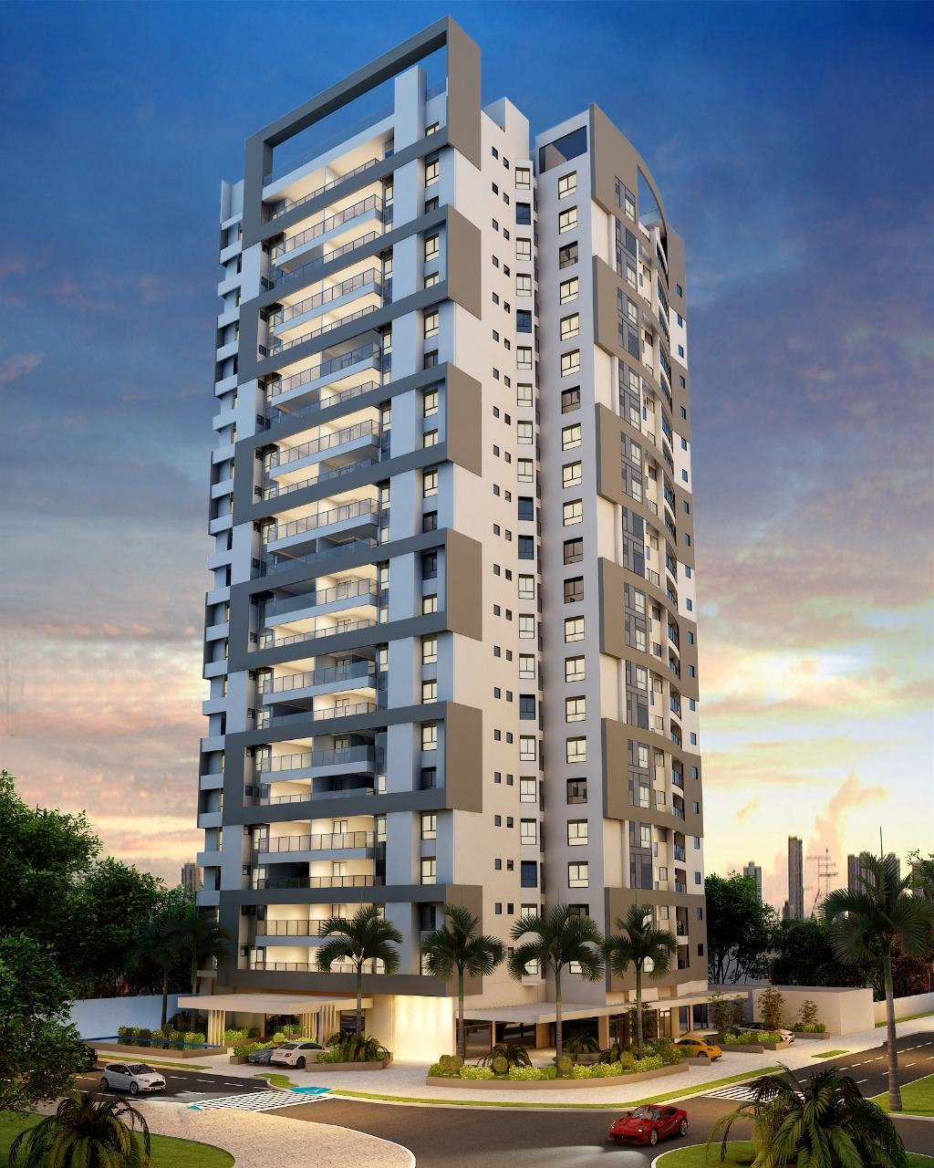 Imagem com projeto do edifício vangarden living, edifício lançamento no bairro granja marileusa