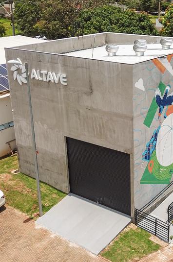Foto da faixada da empresa Altave.