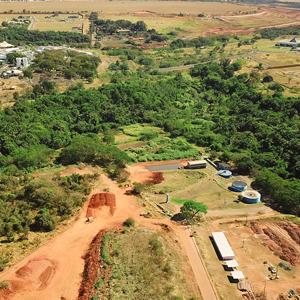 Foto do local onde será construída a nova estação elevatória para o tratamento de esgoto no Granja Marileusa.